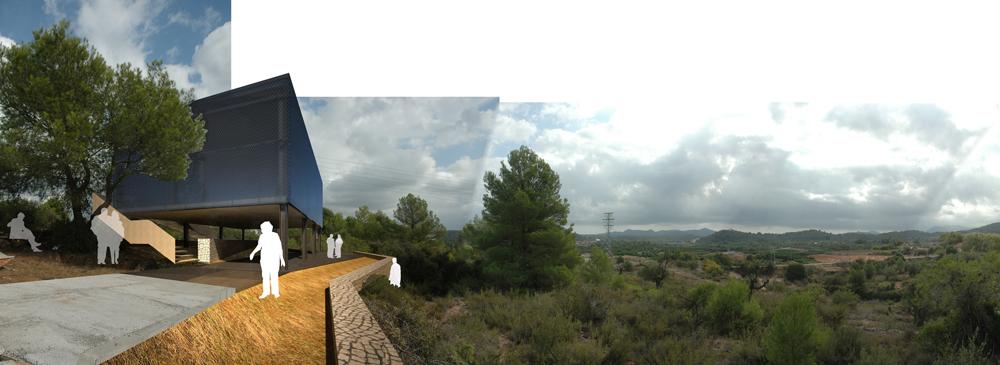 Una caja de luz, una señal en el paisaje